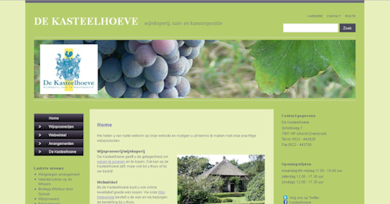 Website Kasteelhoeve