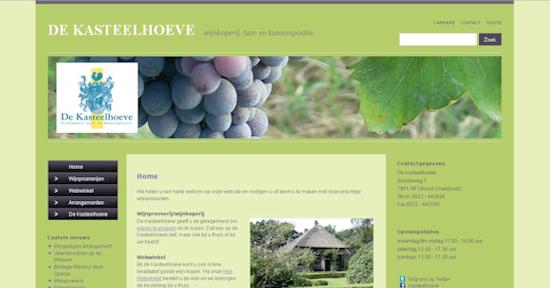 Website Kasteelhoeve