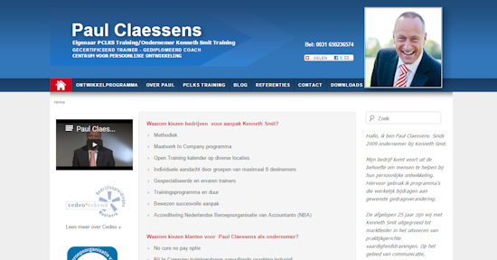 Website Paul Claessens
