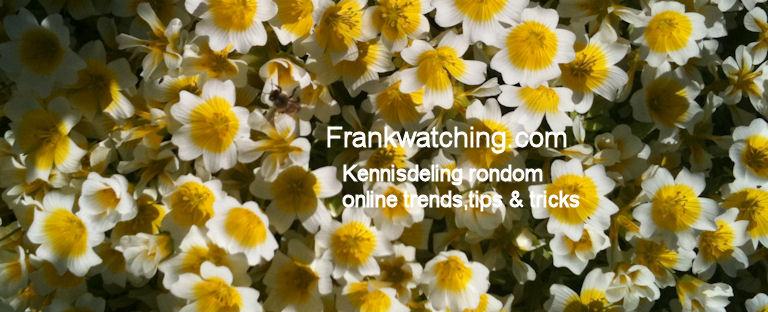 Frankwatching verdient een bloemetje