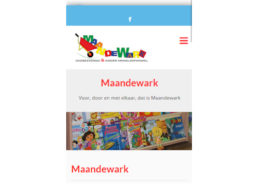 Maandewark Mobiele website
